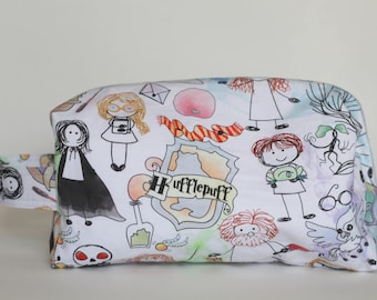 Doodle Harry Potter Medium Knitting & Crochet Project/Toiletry Box Bag