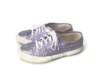 Superga lamew basse viola, Superga vintage lamew, Superga viola glitter, Superga scarpe sneakers, Scarpe Superga lamew numero 38