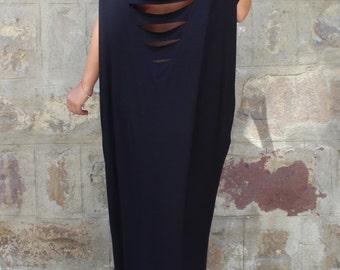 Black Caftan, Maxi Dress, Backless dress, Plus size dress, Oversized dress, Open back dress, Summer dress, Cover up, Black robe, 133.137