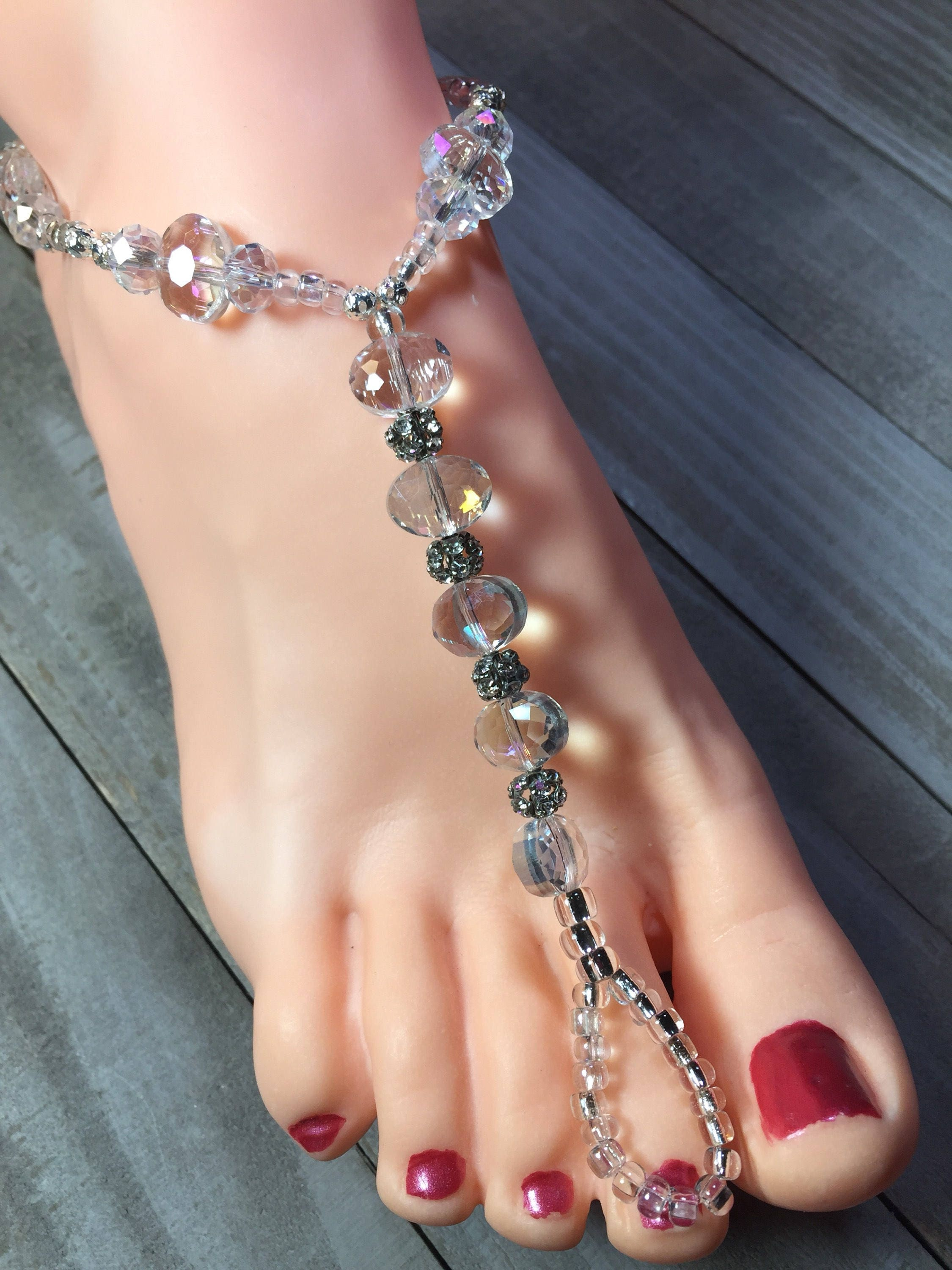 accessory crystal wedding toe sandal foot m barefoot collections with jewelry chain r products rhinestone ring anklet boutique beach