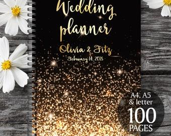 Gold wedding planner,  Wedding book, Printable wedding planner, Wedding printable binder, Printable wedding organizer, To do wedding list