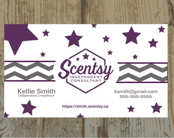 Authorized scentsy vendor scentsy gift certificate digital authorized scentsy vendor scentsy business cards digital upload or printed one sided business card wajeb Image collections