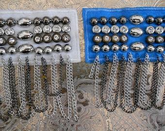 Rhinestone Beaded Chain Appliques