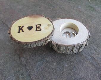 Elm Ring Box | Ring Holder | Ring Pillow Alternative | Wedding Gift | Engagement Gift | Wedding Ring Holder