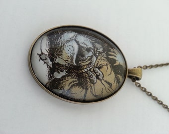 Narnia Aslan and the Mice Illustration Necklace
