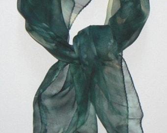 SALE Dark Night Bandana Silk Scarf Hand Painted Handmade
