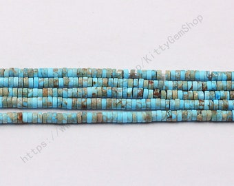 4mm Dyed Blue Sea Sediment Jasper Beads YHA-354