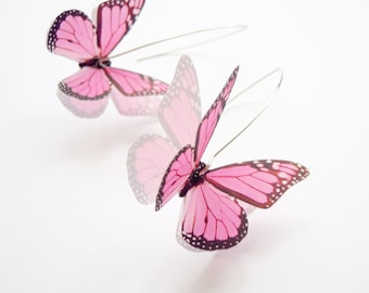 Butterfly Earrings in Pink