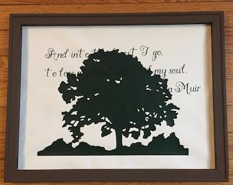 John Muir Tree sign