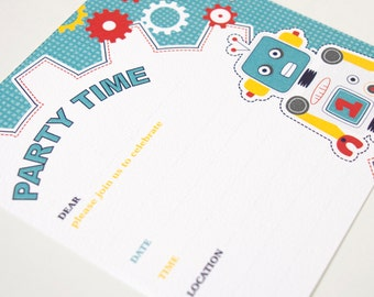 Invitations Blank - Robot