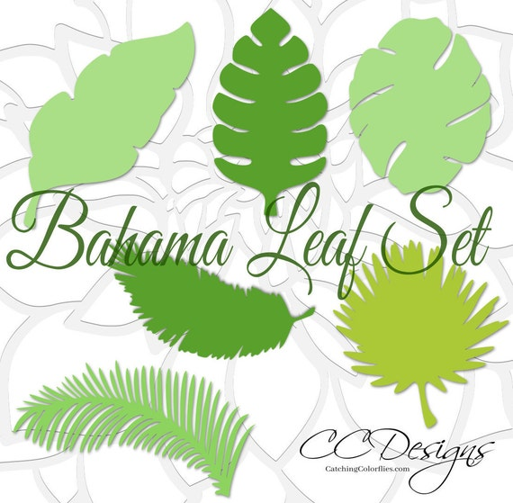 Large Paper Leaf Templates Tropical Leaf Svg Cut Files Large