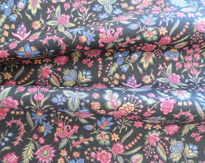 Dutch Chintz - Les Petits Bouquets Black 1/2 yd