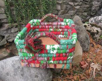 CEDAR GROVE   large textile art BasKET storage box