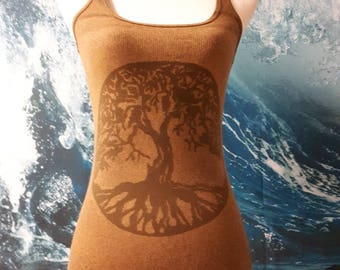 Tree of Life Chakra tank top in small