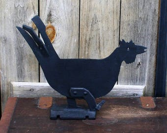 Cast Iron Rooster Boot Scraper, Farmhouse Decor, Rooster Doorstop
