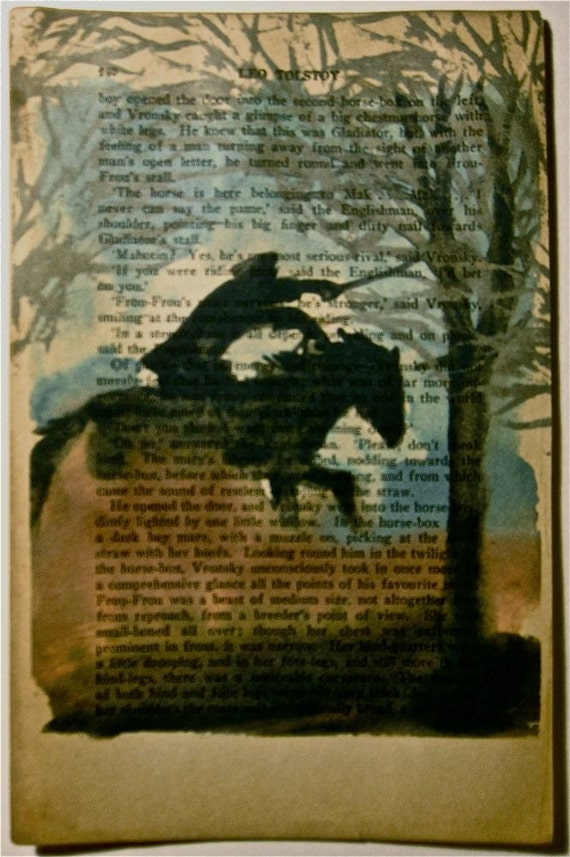 Count Vronsky Charging Through the Night by Gretchen Kelly