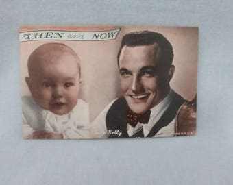 Vintage Mid Century Arcade Cards Then and Now Gene Kelly