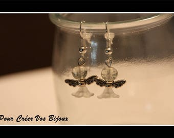 Earrings Kit and mini clear Angel