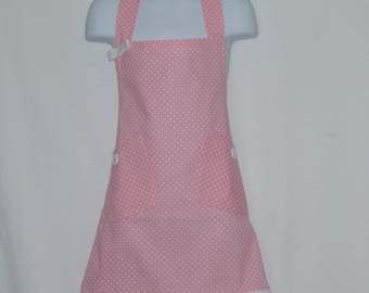 Pink Girl's Apron, Custom Personalize With Name, Gram, Grams, Grandma, Nina, Mommy Helper, No Shipping Fee, Ready To Ship, TODAY, AGFT 1124
