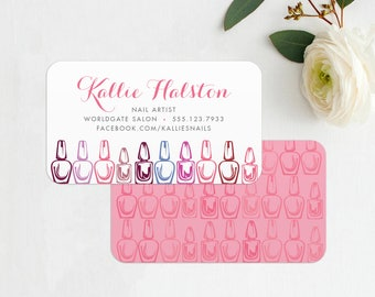 Manicurist Business Card INSTANT DOWNLOAD Printable Calling Card / Contact Card - Nail Technician, Nail Salon, Calling Cards, Business Card