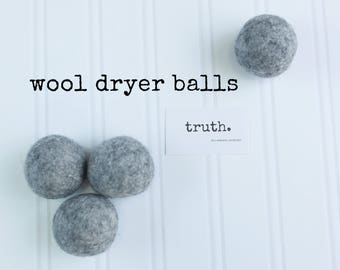 truth. organic wool dryer balls