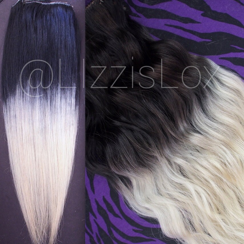 Ombre clip in extensions 16 to 30 black to zoom pmusecretfo Image collections