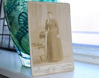 Antique Photograph Victorian Woman Cabinet Card 1800s