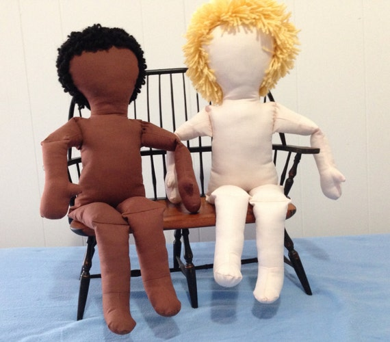 My  Doll'n™  Body  Pattern   PDF.  Make an 18-20 Inch Girl or Boy Doll, soft and cuddly with bending knees and elbows, and embroidered face.