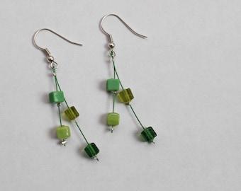 """Earrings """"Fresh Medley"""" in green"""