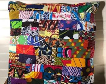 African Patchwork Pillow