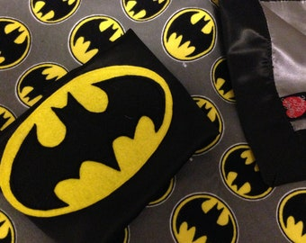 Batman Baby Blanket and Cape Set (Made and Ready to Ship)