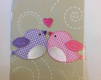 Love birds motif