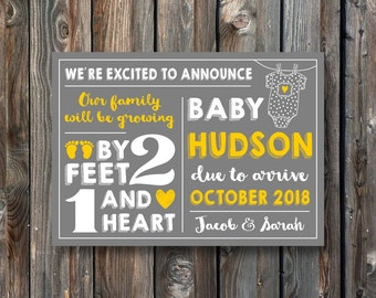 PRINTABLE Pregnancy Announcement Card–Printable Baby Reveal Card–Pregnancy Reveal Sign-Baby Announcement Sign-Our Family Will Be Growing-P14