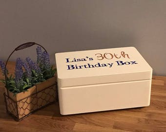 Milestone Birthday Keepsake Box