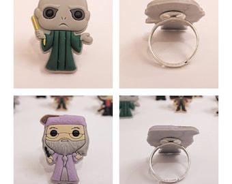 Harry Potter Character Rings - Dumbledore / Voldemort