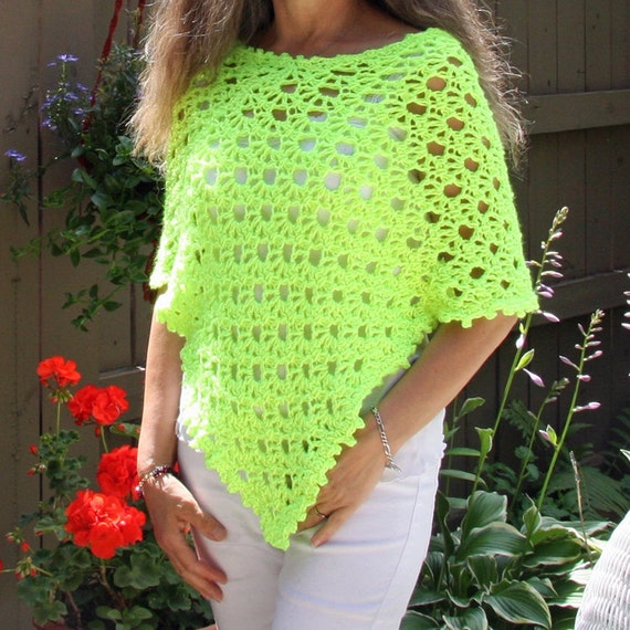 Crochet Poncho PATTERN / Asymmetrical Poncho / Lightweight Summer ...