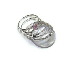 Love Stones in Sterling Rings, set of 5 R130