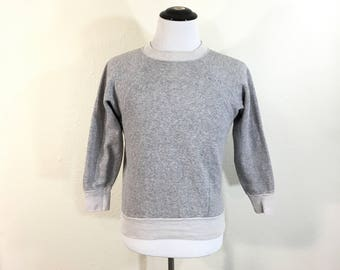 60's vintage two tone heather gray sweatshirt made in usa size M