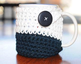 Mug Cozy With Coaster- Mug Cozy- Wrapped Mug Cozy- Coffee Cup Cozy