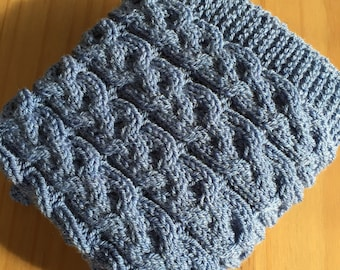 Cosy Cables ~ Baby Blanket ~Knitting pattern