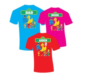 Sale! Sesame Street Shirt - Sesame Street Birthday Shirts - Matching Birthday Party Shirts