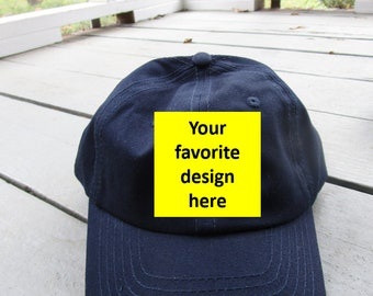 Childs Embroidered Hat with Optional Personalization- Pick your own design
