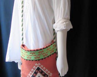Shoulder bag/purse/shoulder bag made in Greece carry on travel  vintage