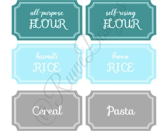 Customized Food Pantry Labels