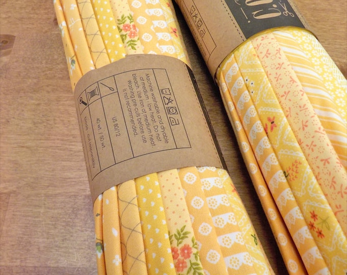 Color Cuts by Moda Fabrics...Lemon Drop bundle, 12 fat quarters, factory cut, yellow bundle