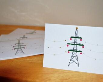 Pylon Christmas Greetings Card