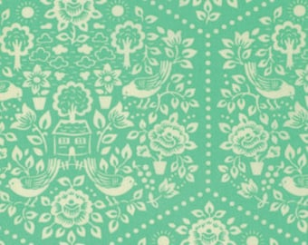 Clementine Summerhouse Turquoise by Heather Bailey for Free Spirit