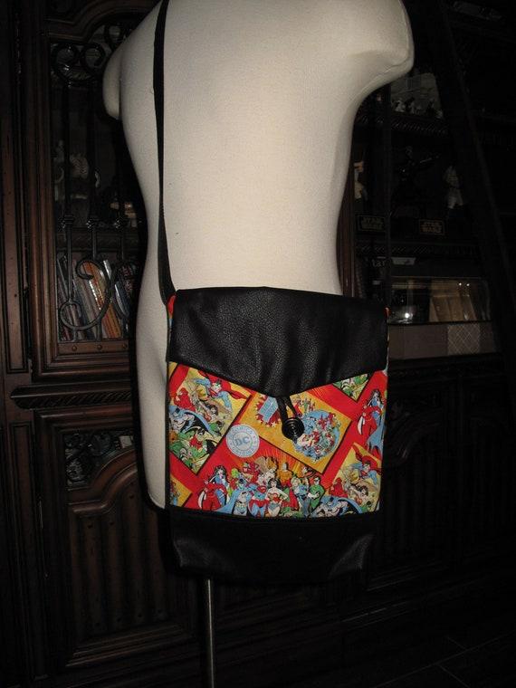 DC Comics comic book print unisex shoulder bag or crossbody bag size 14x11x3
