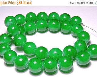 25% OFF Summer Sale 30 Pieces Natural Green Onyx Smooth Polished Round Balls Size 10 MM