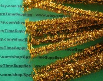 "Loopy Tinsel Stems - gold - 10 mm x 12"" - 18 pcs - Fibre Craft - #32722-61"